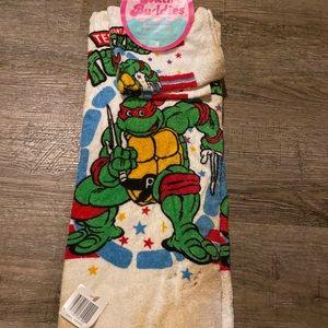 Vintage TMNT Towel / Wash Cloth Set **STAINED**